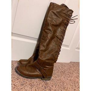 Knee Tie Boots